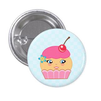 Botón redondo del carácter rosado de las costuras pin redondo de 1 pulgada