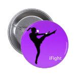botón redondo del chica del iFight Pin