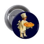 Botón redondo del cocinero del vintage pin