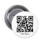 Botón redondo del código de QR Pin