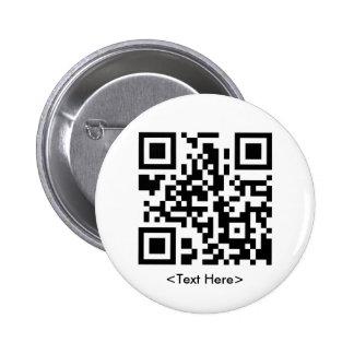 Botón redondo del código de QR Pin Redondo De 2 Pulgadas