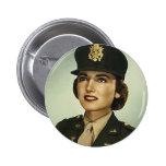 Botón redondo del cuerpo de enfermera del vintage pin
