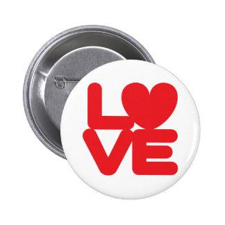 Botón redondo del ♥ del ♥ 01 del AMOR Pin Redondo De 2 Pulgadas