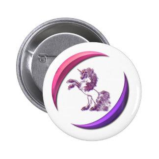Botón redondo del diseño del unicornio pin redondo de 2 pulgadas