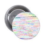 Botón redondo del diseño II del texto de Elizabeth Pin