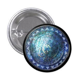 Botón redondo del escudo - emblema azul de Sun Pin Redondo De 1 Pulgada
