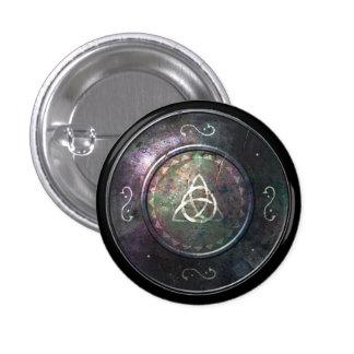 Botón redondo del escudo - emblema de Triquetra Pin Redondo De 1 Pulgada