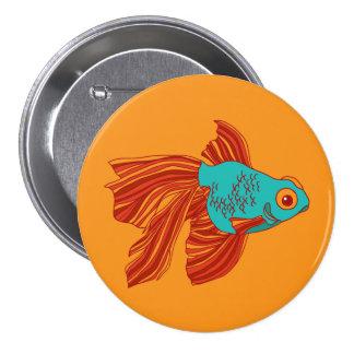 Botón redondo del Goldfish colorido Chapa Redonda 7 Cm