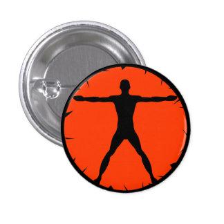 Botón redondo del hombre de Vitruvian de la Pin Redondo De 1 Pulgada