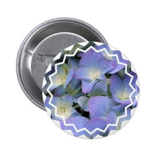 Botón redondo del Hydrangea azul Pin