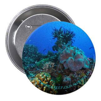 Botón redondo del mar de coral pin redondo de 3 pulgadas