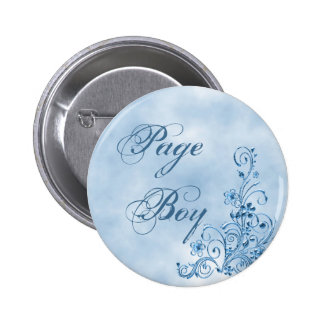 Botón redondo del muchacho de la página: Elegancia