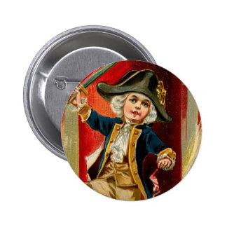 Botón redondo del muchacho patriótico pin