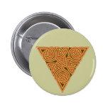 Botón redondo del nudo rústico del triángulo pins