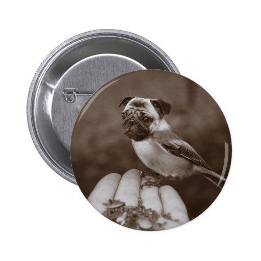 Botón redondo del pájaro lindo del barro amasado