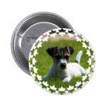 Botón redondo del perrito de Jack Russell Pin
