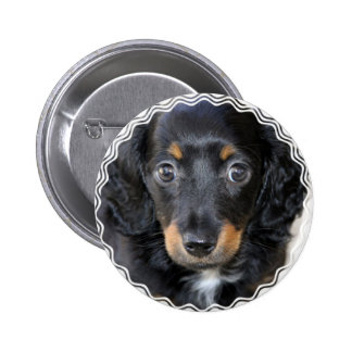Botón redondo del perro de perrito de Daschund Pin