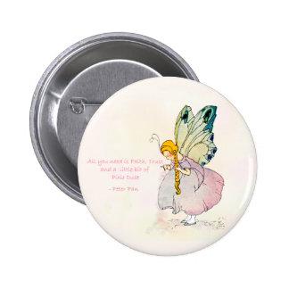 Botón redondo del polvo del duendecillo pin redondo de 2 pulgadas