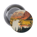 Botón redondo del poster del viaje de Rockies del  Pin Redondo De 2 Pulgadas