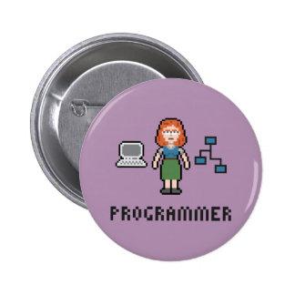Botón redondo del programador de sexo femenino del pin redondo de 2 pulgadas