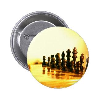 Botón redondo del tablero de ajedrez pin