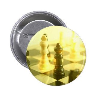 Botón redondo del tablero de ajedrez pins
