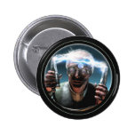 Botón redondo enojado del científico #2 pins