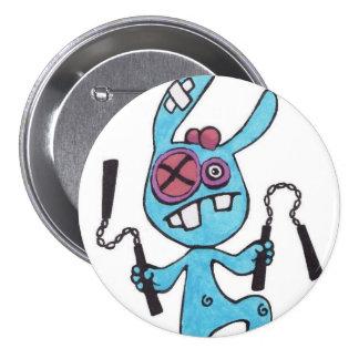 Botón redondo grande 3inch del conejo de Nunchaku Pin