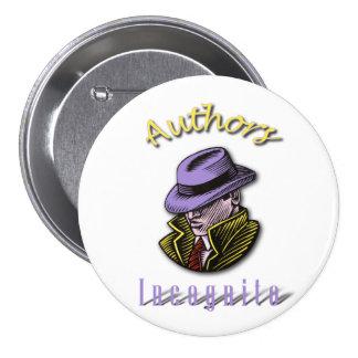 Botón redondo incógnito de los autores