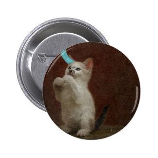 Botón redondo lindo de Kittie Pin Redondo De 2 Pulgadas