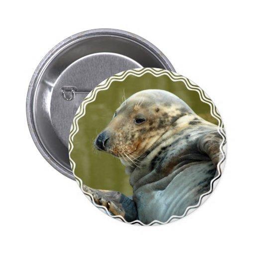 Botón redondo manchado del sello pins