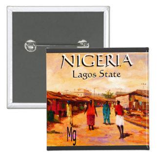 Botón redondo - Nigeria Pin Cuadrado