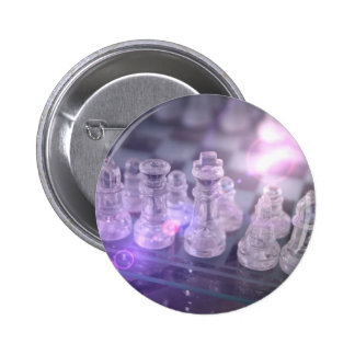 Botón redondo principal del ajedrez pins