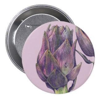Botón redondo púrpura de la alcachofa púrpura pins