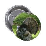 Botón redondo salvaje de Turquía Pins