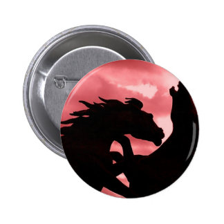 Botón redondo silueteado del diseño del semental pins