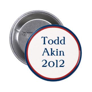 Botón relacionado de Todd del vintage Pin