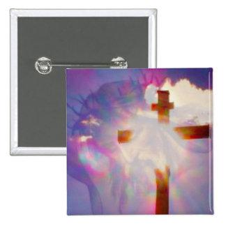 Botón religioso de Pascua Pin Cuadrado