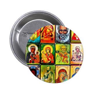 Botón religioso del tema de Christiian Pin