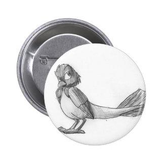 Botón reptil Tradicional-Dibujado del pájaro Pin