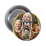 Botón republicano de Quadragate 3-Inch de la famil