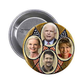 Botón republicano de Quadragate 3-Inch de la famil Pins