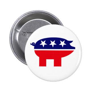 Botón republicano del cerdo pins