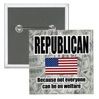 Botón republicano del cuadrado del bienestar pins