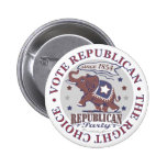 Botón republicano del elefante del voto pins