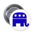 Botón republicano del elefante pin