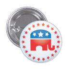Botón republicano del elefante pins