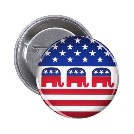 Botón republicano del voto - botón pin redondo de 2 pulgadas