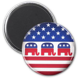 Botón republicano del voto - imán