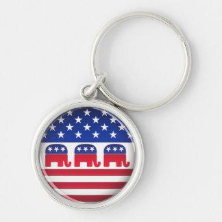 Botón republicano del voto - llavero